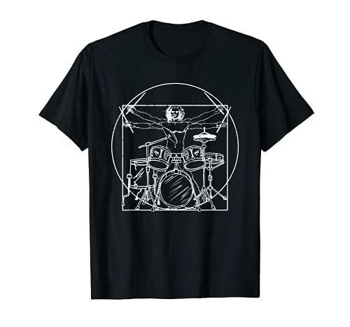 Drummer Gift: Da Vinci Drums Drawing Present for Music Fans T-Shirt