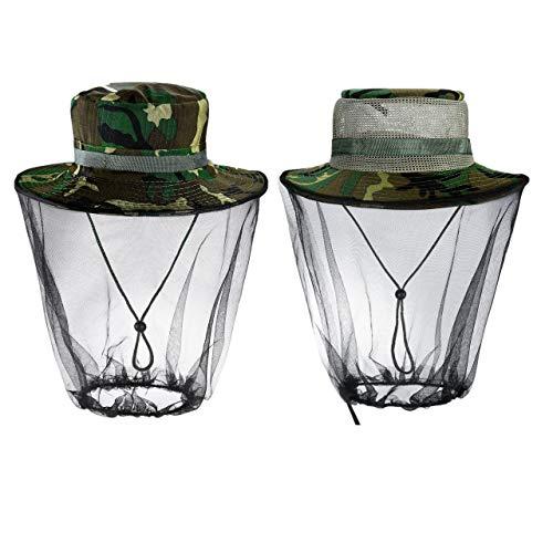 Faletony Filet de protection anti-UV pour homme et femme Motif camouflage - - Taille Unique