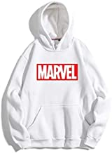 THE SV STYLE Unisex White Hoodie with RED Print: Marvel/Printed Red Hoodie/Graphic Printed Hoodie/Hoodie for Men & Women/Warm Hoodie/Unisex Hoodie