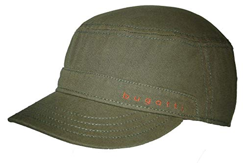 Bugatti Organic Cotton Army Cap Baumwollcap Armycap Military Sommercap Sonnencap Mit Schirm (59, Oliv)