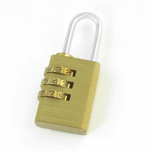 Aexit Gold ton Koffer, Rucksäcke & Taschen 3Digits rücksetzbaren Kombination Zahlencodeschloß Gepäck Schublade Box Zubehör Lock Vorhängeschloss