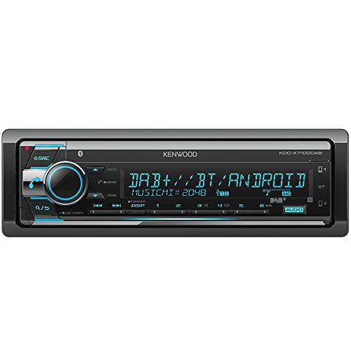 Kenwood KDC-X7100DAB Digitalautoradio mit Bluetooth-Freisprecheinrichtung und Apple iPod-Steuerung schwarz
