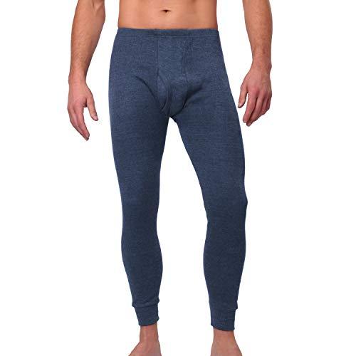 MT Herren Ski- und Thermounterhose - warme Unterwäsche lang mit Innenfleece Thermo Light - Blau XL
