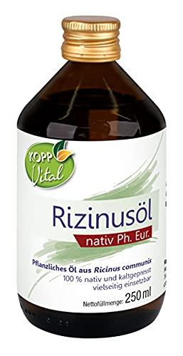 Kopp Vital Rizinusöl nativ Ph. Eur. 250 ml | Premium-Qualität | 100% nativ und kaltgepresst | Öl für vielseitige Anwendungen