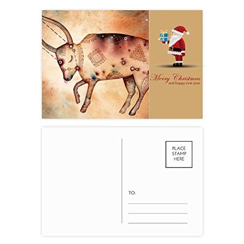 Mai April Stier Sternbild Sternzeichen Santa Claus Postkarten-Set Dankeskarten, 20 Stück