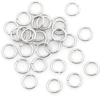 304 Stainless Steel Open Jump Max 47% OFF Rings Soldering Pac 6mm 0.8mm x Round Silver