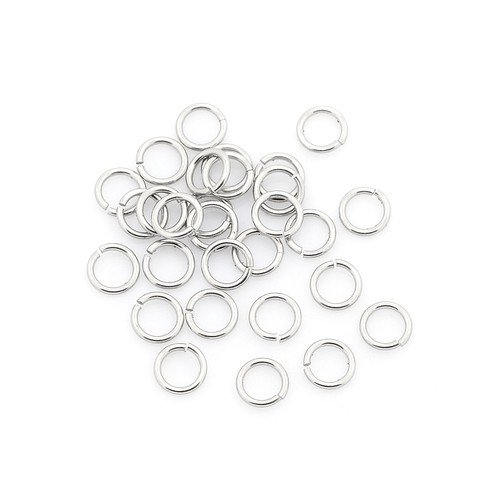 304 Stainless Steel Open Jump Rings Silver Round 0.6 x 3mm Pack of 110+
