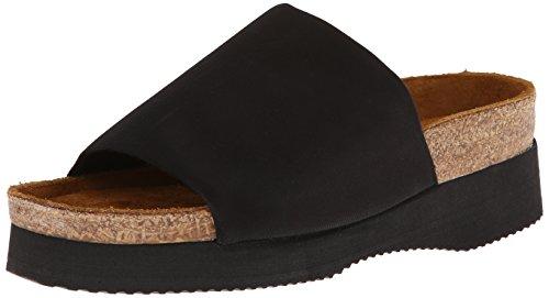 Naot Women's Tampa Platform Sandal,Black Stretch,40 EU/8.5-9 M US