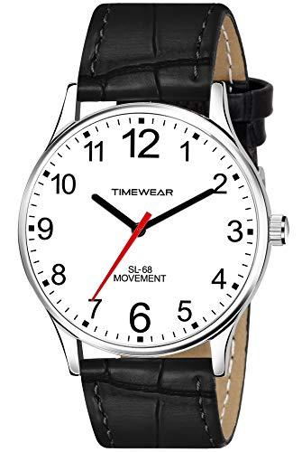 TIMEWEAR Analog White Dial Black Strap Watch for Men - 253WDTG