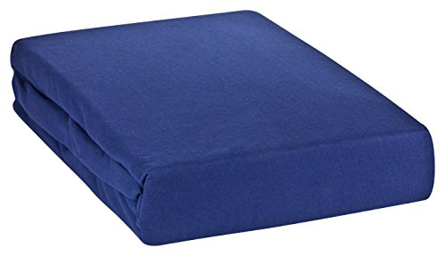MOON Premium Spannbetttuch Spannbettlaken Wasserbett und Matratzen Line Silver 180x200-200x220-dunkelblau