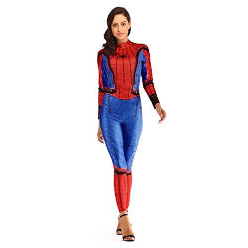 BCOGGGQuantum Iron Man - Disfraz de Capitán Marvel para mujer, disfraz de Halloween, disfraz para mujer