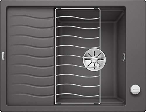 BLANCO 524815 Elon 45 S Küchenspüle, felsgrau, 45 cm Unterschrank