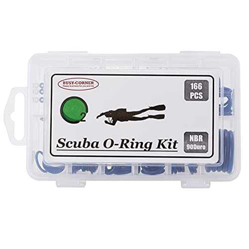166 Pieces Scuba O-Ring Kit,12 Sizes,Nitrile Buna 90 Duro orings,for Dive Hoses Ring, Diving,Dive Gear Equipment,Scuba Tanks(NBR90)