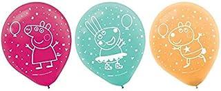 بالونات قصاصات الورق بيبا بيغ للحفلات، من اللاتكس - 12 انش | متنوعة | ديكورات | 6 قطع.