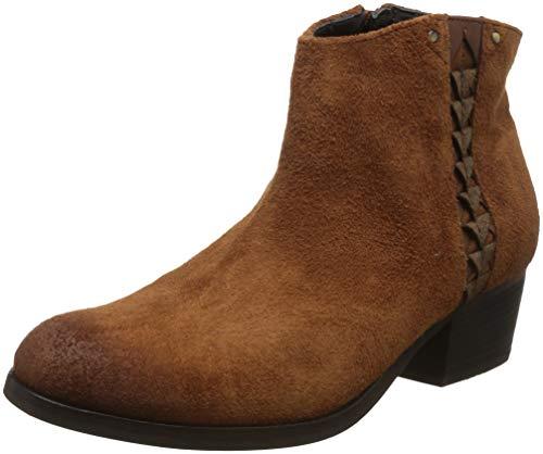CLARKS Maypearl Botines/Low Boots Mujeres Dark/Tan/Aterciopleado Botines