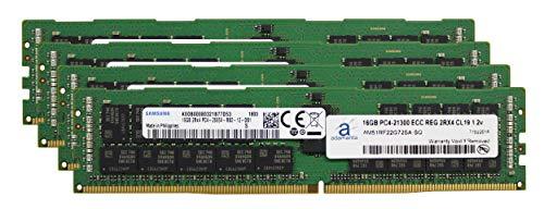 Adamanta - Memoria RAM de 64 GB (4 x 16 GB) para Servidor HP Z8 G4 Workstation DDR4 2666 MHz PC4-21300 ECC Chip registrado 2Rx4 CL19 1,2 V DRAM RAM