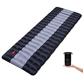 YSXHW Self Inflating Camping Pads Thick 4.7 Inch Lightweight Camping Sleeping Pad Ultralight,Compact Waterproof PVC Inflatable Mat for Tent Hiking and Backpacking