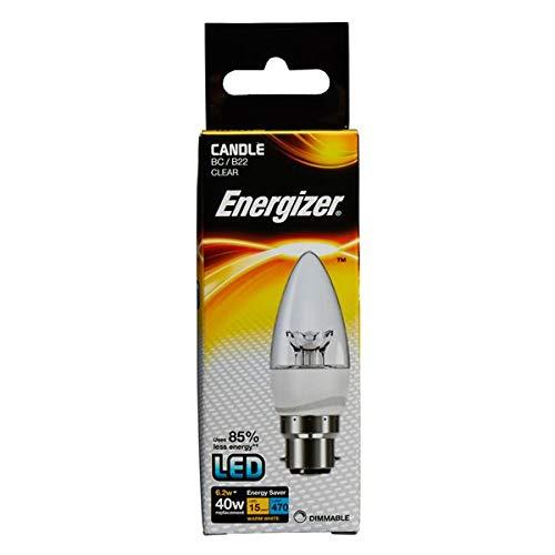 Energizer Dimmbare LED-Energiesparlampe, glas, B22, warmweiß
