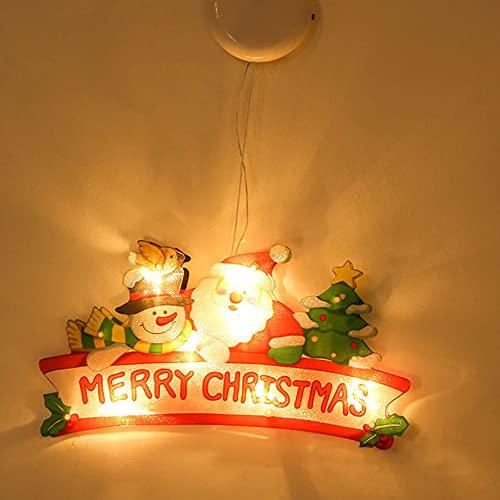 SpiceRack Luz LED Creativa Luz Colgante navideña para Ventana la Tienda Ventosa Luces Colgantes Adornos navideños Lámpara Kit de Diamantes Hogar Año Nuevo Suministros Decor para Fiestas navideñas