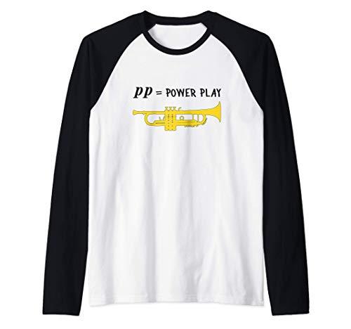 pp = power play!, Trompete Geschenk, Lustiges Trompete Raglan