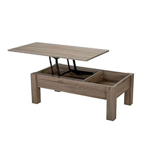 Christopher Knight Home Enida Dark Brown Wood Lift Top Storage Coffee Table