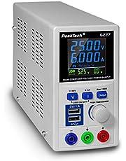 PeakTech P 6227 - DC Labor voeding 0-60 V / 0-6 a met gekleurd LCD-scherm, laboratoriumvoeding incl. 2x USB-poort, instelbare uitgangsspanning, bedrijfsspanning 115-240 V AC / 50-60Hz - EN 61010-1