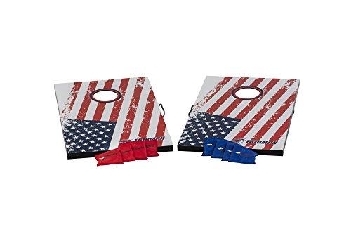 Triumph Patriotic Classic 2x3 Cornhole Set - Includes 2 Patriotic Boards, 8 All-Weather Cornhole Bags