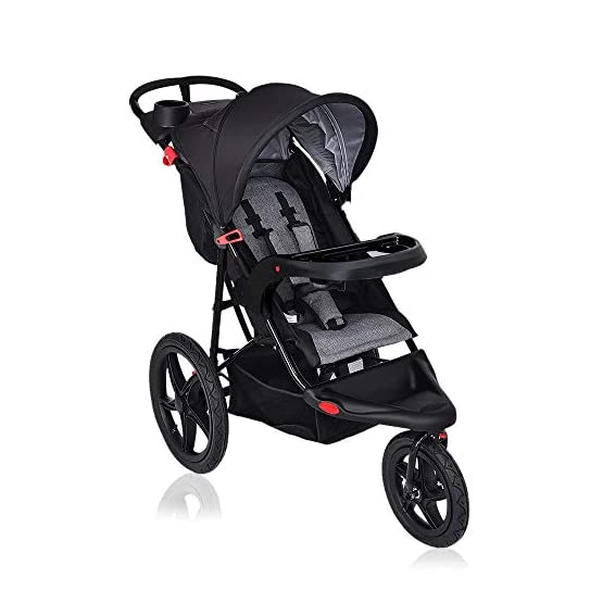 C-Chain Foldable Lightweight Baby Stroller with Jogger Travel System, w/Parental Cup Phone Holder, Extended Canopy, Free…