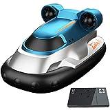 UJIKHSD 2.4G Wireless RC Boat Mini RC Hovercraft Pequeño Yate Eléctrico Modelo Náutico Regalo del Día De Los Niños Verano Juguetes Acuáticos Al Aire Libre Regalos De Cumpleaños para Niños
