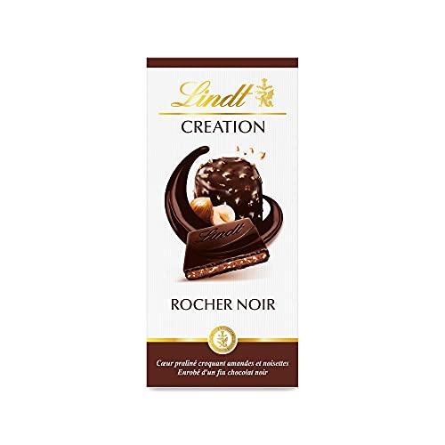 Lindt - Tablette Le Rocher Noir CREATION - Chocolat Noir - 150g
