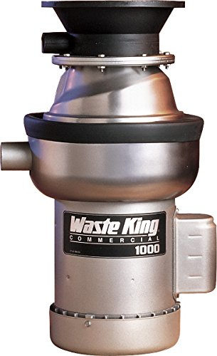 Waste King 1000-1 1 HP Commercial Food Waste Disposer , Gray