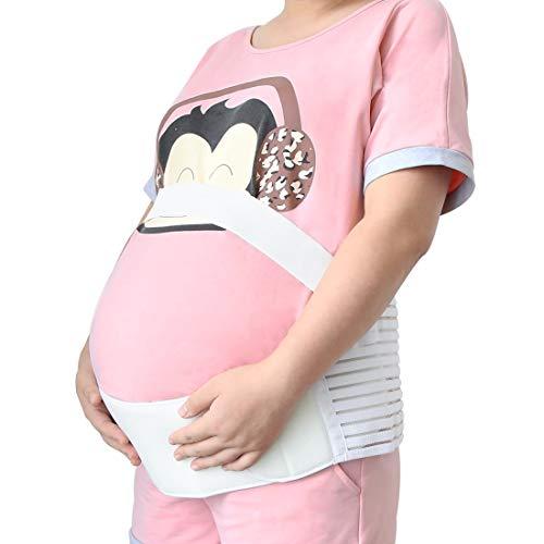 YeVhear - Cinturón de maternidad, soporte para embarazo, cintura de espalda, banda abdominal, férula abdominal, color blanco, talla M