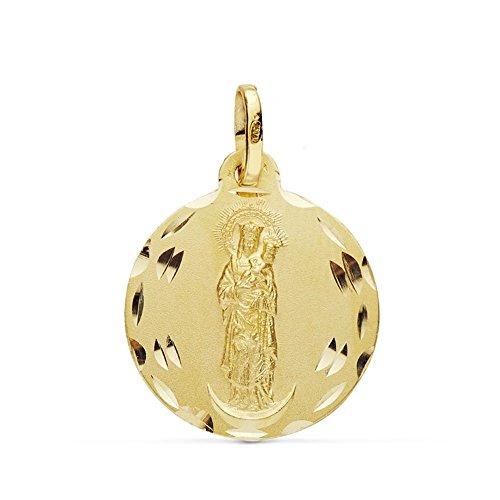Medalla Oro 18K Virgen Almudena 18mm. [Ab0776Gr] - Personalizable - Grabación Incluida En El Precio