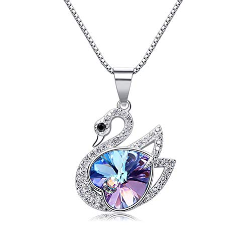 MINCHEDA Collar de Mujer S925 con Cristal Regalo de Joyas para el Día de la Madre/Aniversario/Cumpleaños/Navidad