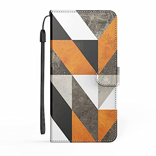 Funda para iPhone 12 Mini, funda de piel sintética de alta calidad con tapa protectora magnética, ranura para tarjeta de crédito, soporte de silicona suave para iPhone 12 Mini