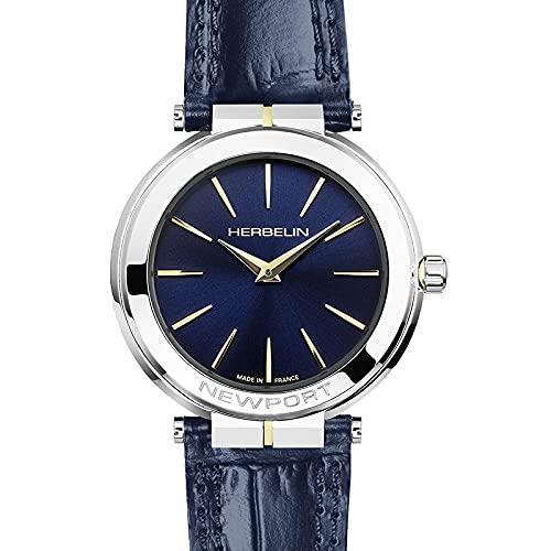 Herbelin Newport Slim 16922/AP60BL - Reloj para mujer, color azul marino