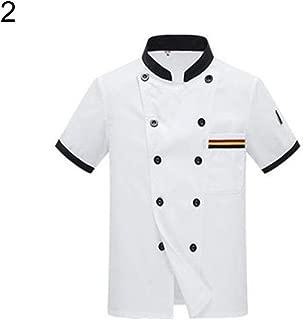 NiSengs Unisex Giacche da Cuoco Sottile E Traspirante Giacca Chef Hotel Ristorante Mensa Uniformi
