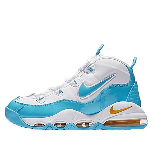 Nike Air Max Uptempo '95, Scarpe da Basket Uomo, Multicolore (White/Blue Fury/Canyon Gold 100), 41 EU