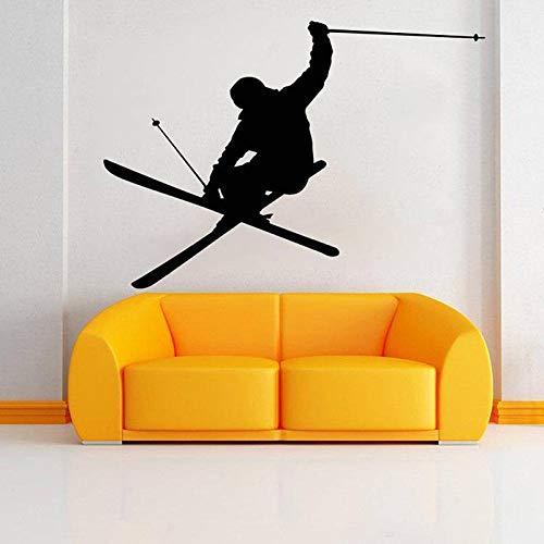 Ski Wall Decal Vinyl Stickers Ski Sports Wall Decoration Wallpaper Mural156x110cm