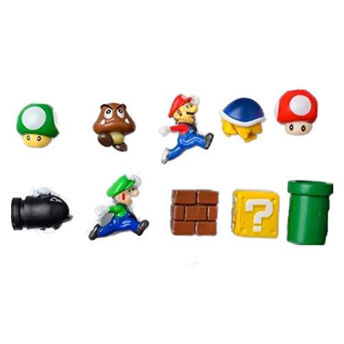 Magneti per frigorifero3D Giocattoli in resina Super Mario per bambini Decorazioni per la casa Ornamenti Figurine Muro Magnete di Mario Proiettili Mattoni, 10 Combinazioni (2)