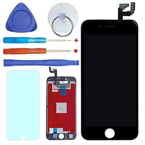 FDAWN Display LCD Touch Screen Completo Digitale Kit Completi di Sostituzione per iPhone 6s 4,7″ Inclusa La Protezione Temperata(Nero)