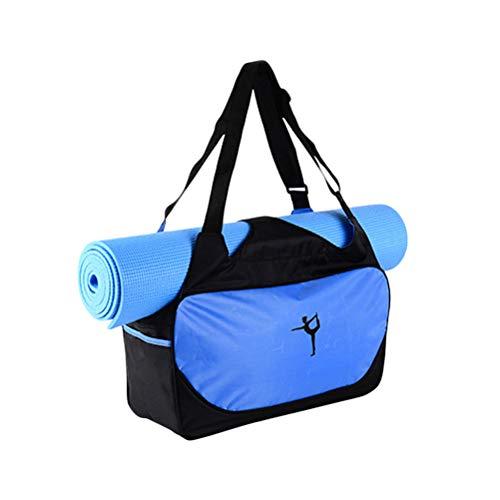 LIOOBO Yoga Mat Bag,Yoga Gym Tote Bag for Yoga Large Yoga Tote Bag (Sky-Blue) by LIOOBO