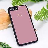 Étui de téléphone Monogramme avec initiales personnalisées Pastel pour iPhone 5 6S 7 8 Plus 11...