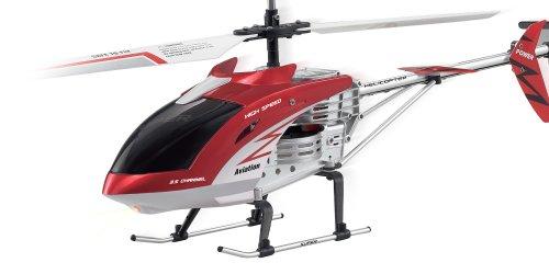 FP-TECH Elicottero RADIOCOMANDATO 3.5 CANALI Super Resistente con GIROSCOPIO E LED