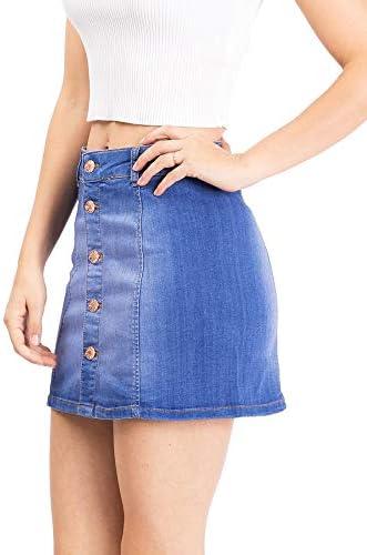 A line jean skirt _image3