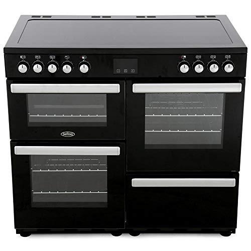 Belling Cookcentre 100E 100cm Electric Range Cooker with Ceramic Hob - Black