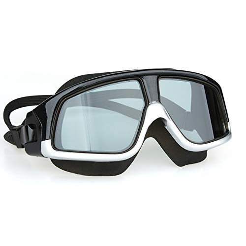 CRSM zwembril comfortabele siliconen grote frame zwembril anti-mist en anti-uv mannelijke en vrouwelijke zwemmen masker waterdicht