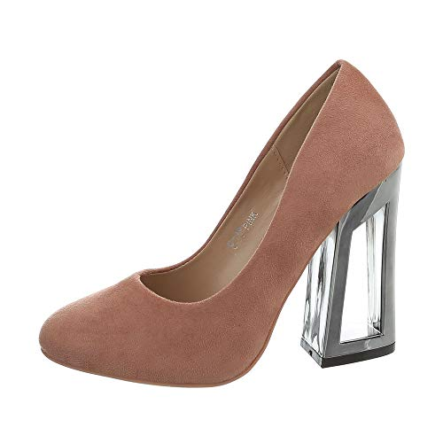 Ital-Design Damenschuhe Pumps High Heel Pumps Synthetik Altrosa Gr. 39