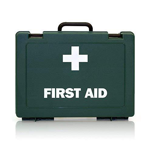 Kit de primeros auxilios para 10 personas, cumple con la HSE, kit de primeros auxilios para el hogar, caravana, garaje, tiendas, oficinas por REAL ACCESSORIES