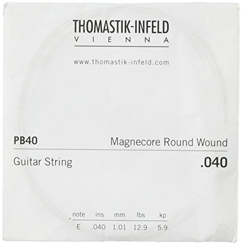 Thomastik-Infeld PB40 E-Gitarrensaiten: Power-Brights-Magnecore Round Wound - Einzelne E-Saite